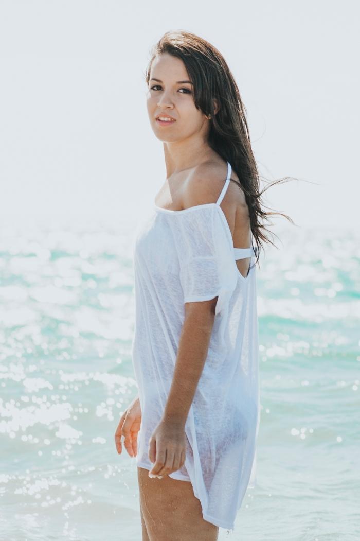 Sesión de fotos y book de chica en la playa en Dunas de Maspalomas