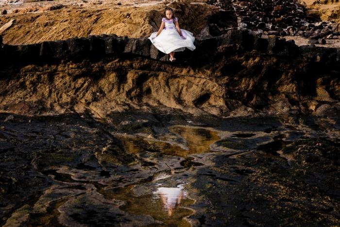 Fotógrafo de primera de comunión en Parque Natural El Confital de Las Palmas