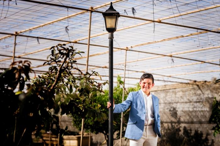 Fotógrafo y fotos de primera comunión en invernadero en Telde