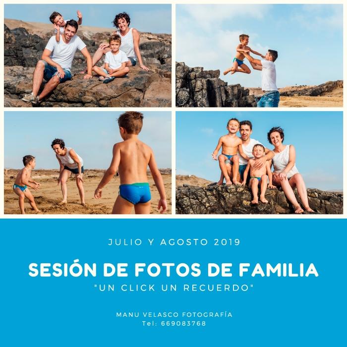 Sesión de fotos de familia en la playa en Fuerteventura