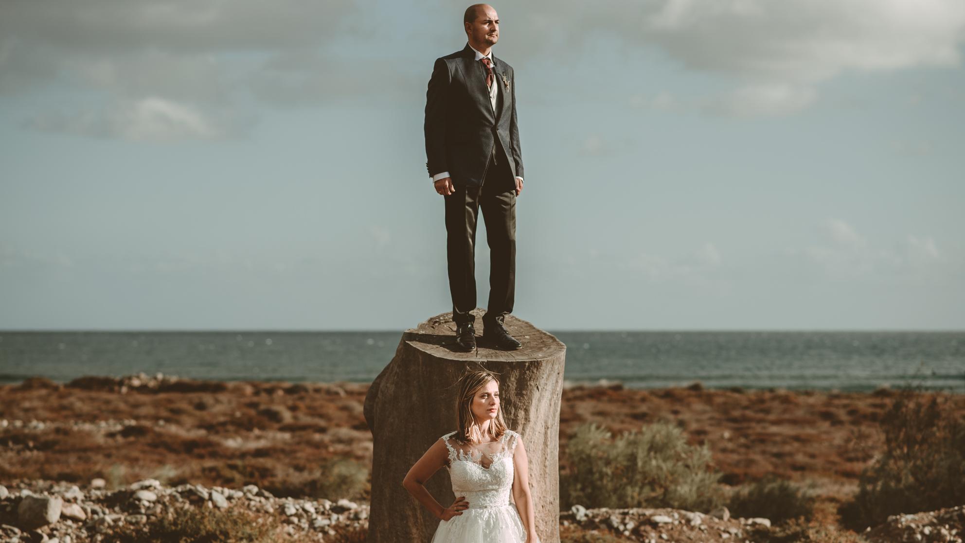 Fotógrafo de postboda en Gran Canaria en el Castillo del Romeral